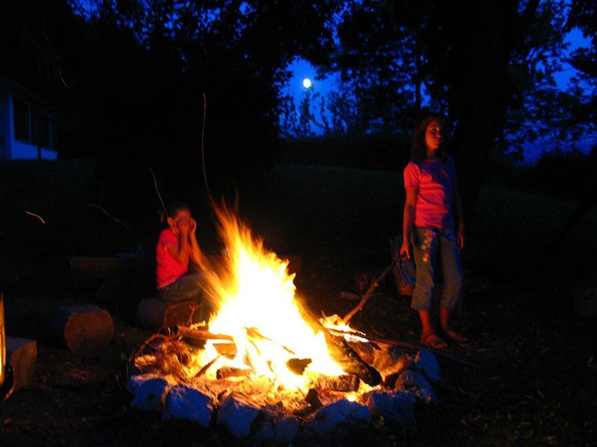 The campfire we all enjoy is a chemical reaction between the organic chemicals in wood and oxygen in the air.