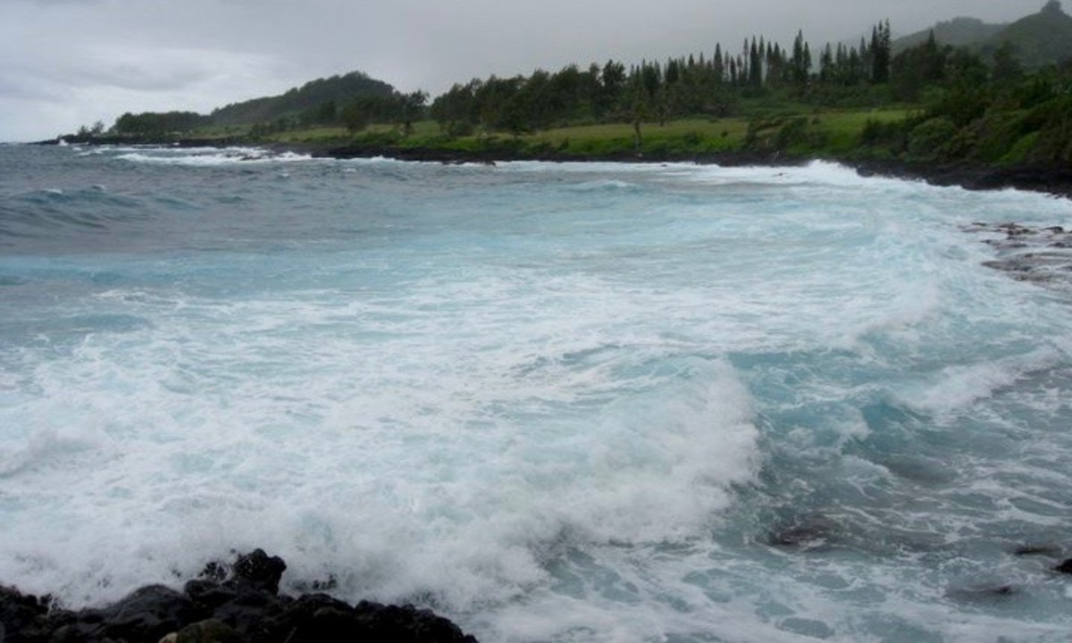 Powerful riptides are typical of beaches in Hawaii.