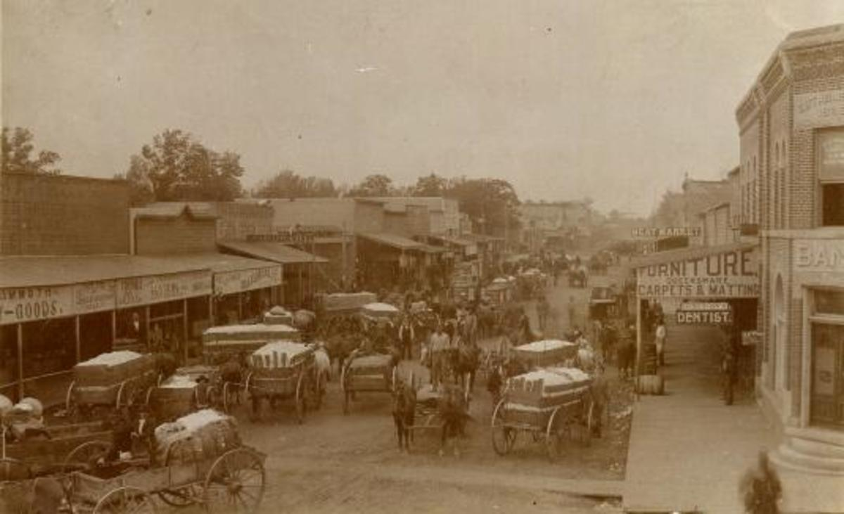 Main Street Shawnee, looking west, late 1800's
