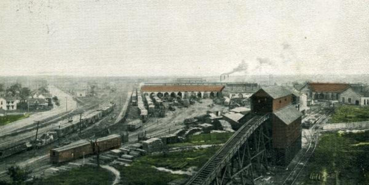 C. R. I. & P. Railway Yards, Shawnee, Oklahoma 1907.