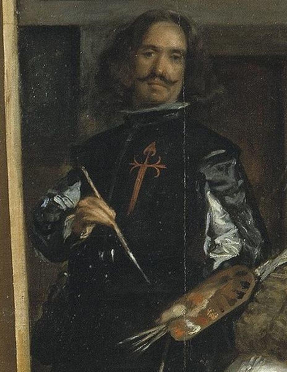 Self-portrait of Velazquez in Las Meninas.