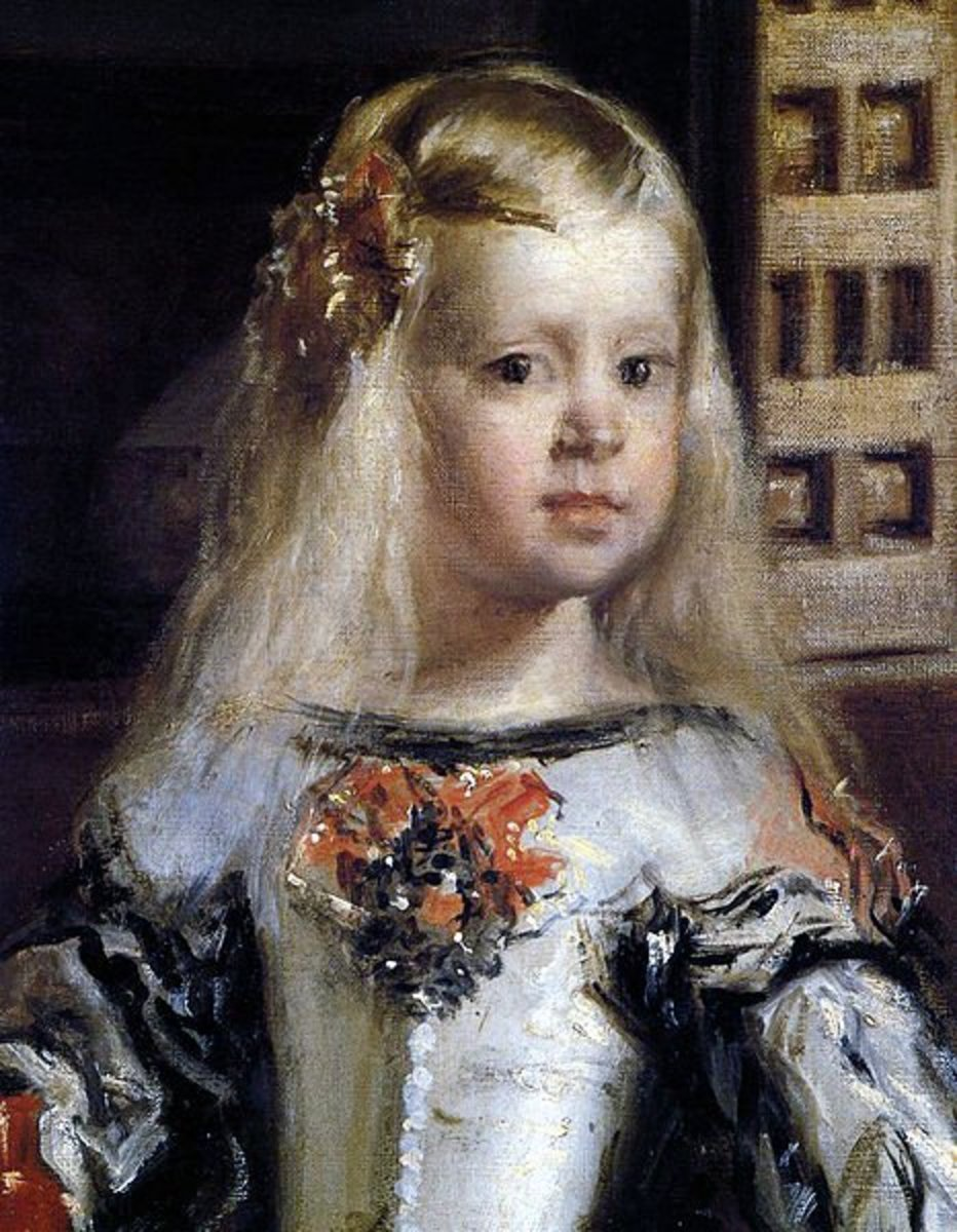 Close-up of La Infanta Margarita Teresa in the painting, Las Meninas