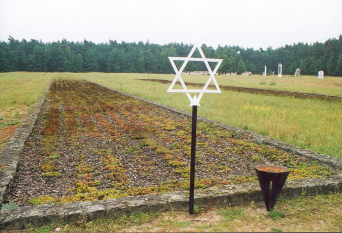 This is a mass grave of unknown victims who died at Chelmno.