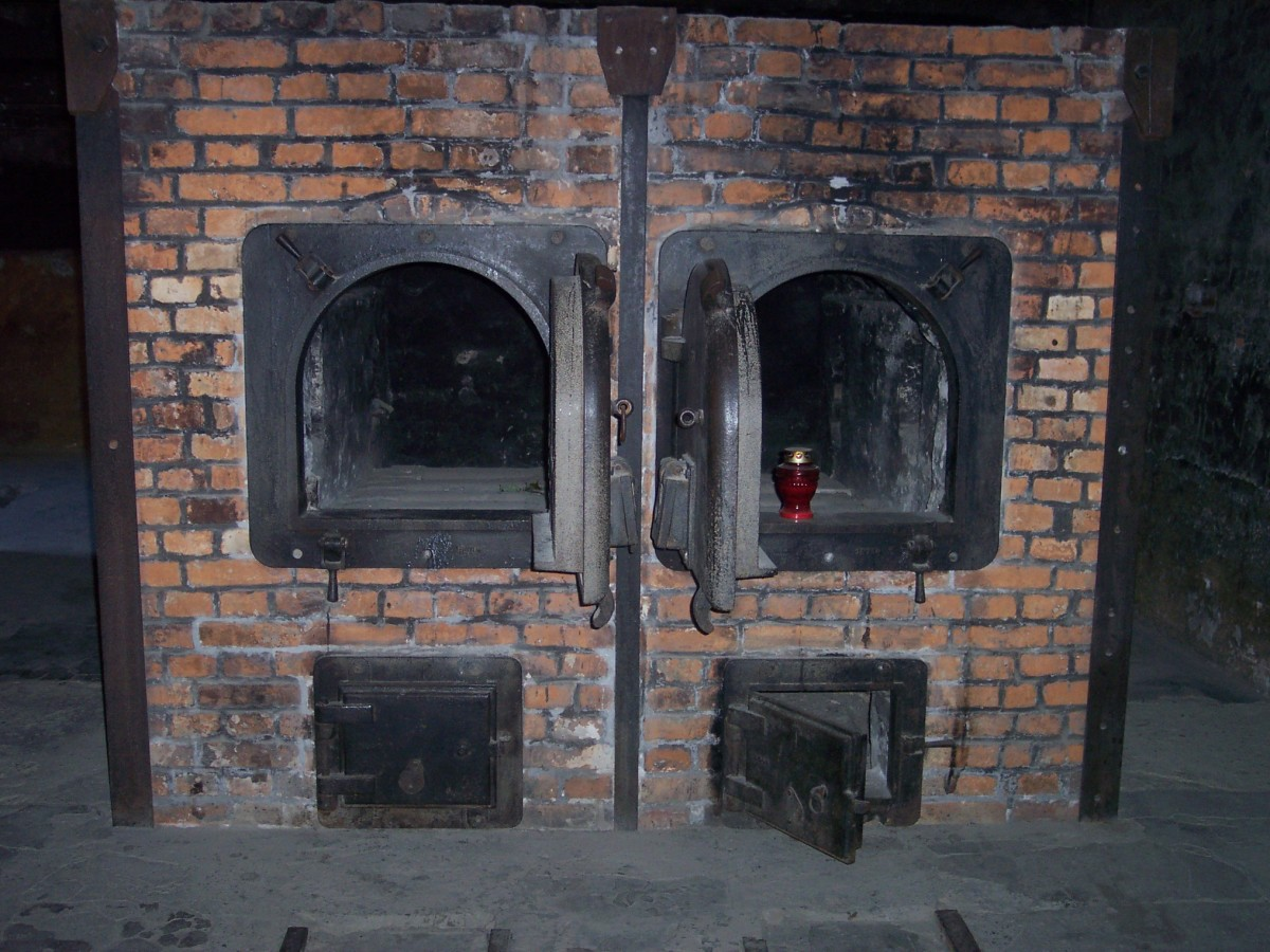 This is the crematorium wihtin the concentration camp Auschwitz.