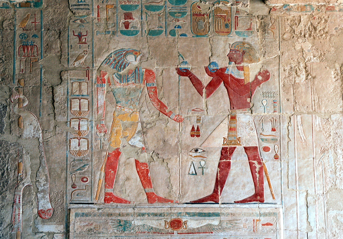 On Queen Hatshepsut's tomb, this hieroglyph was found.
