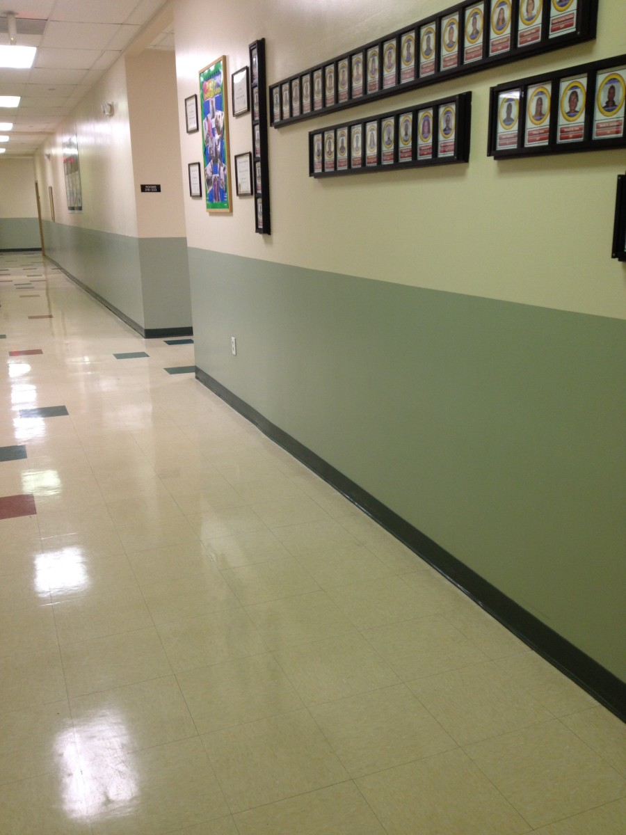 Consider the effect green has in a school hallway.  How can you carry the emotional experience of harmony into the classroom?