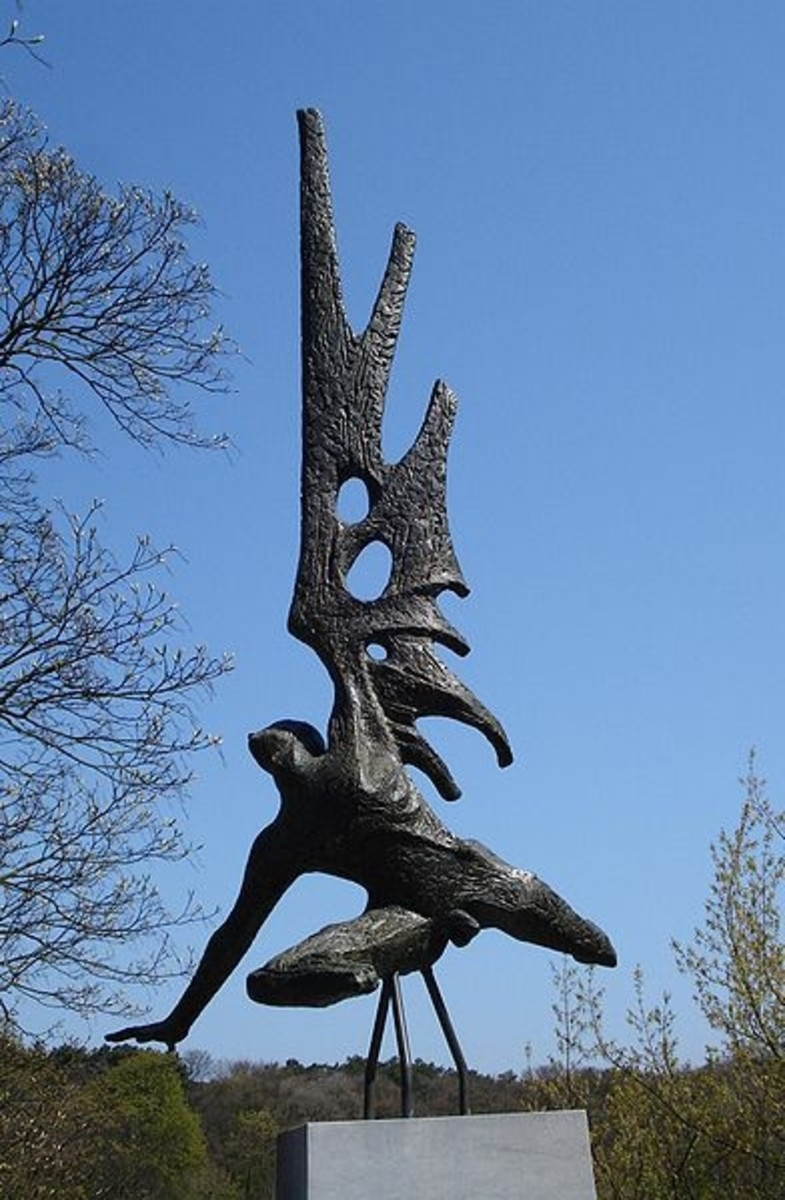 "Titus Leeser's ""Englandspiel Monument"" or The Fall of Icarus in The Hague memorializes the agents who were dropped into the Netherlands during Das Englandspiel in WW2. The inscription says, in part ""They jumped to their death for our freedom."""