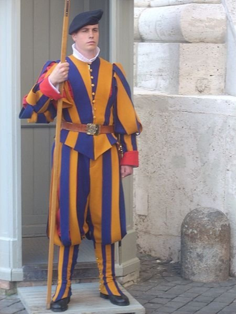 What the Swiss want the world to think of when talking about their military (Swiss Guard at the Vatican).