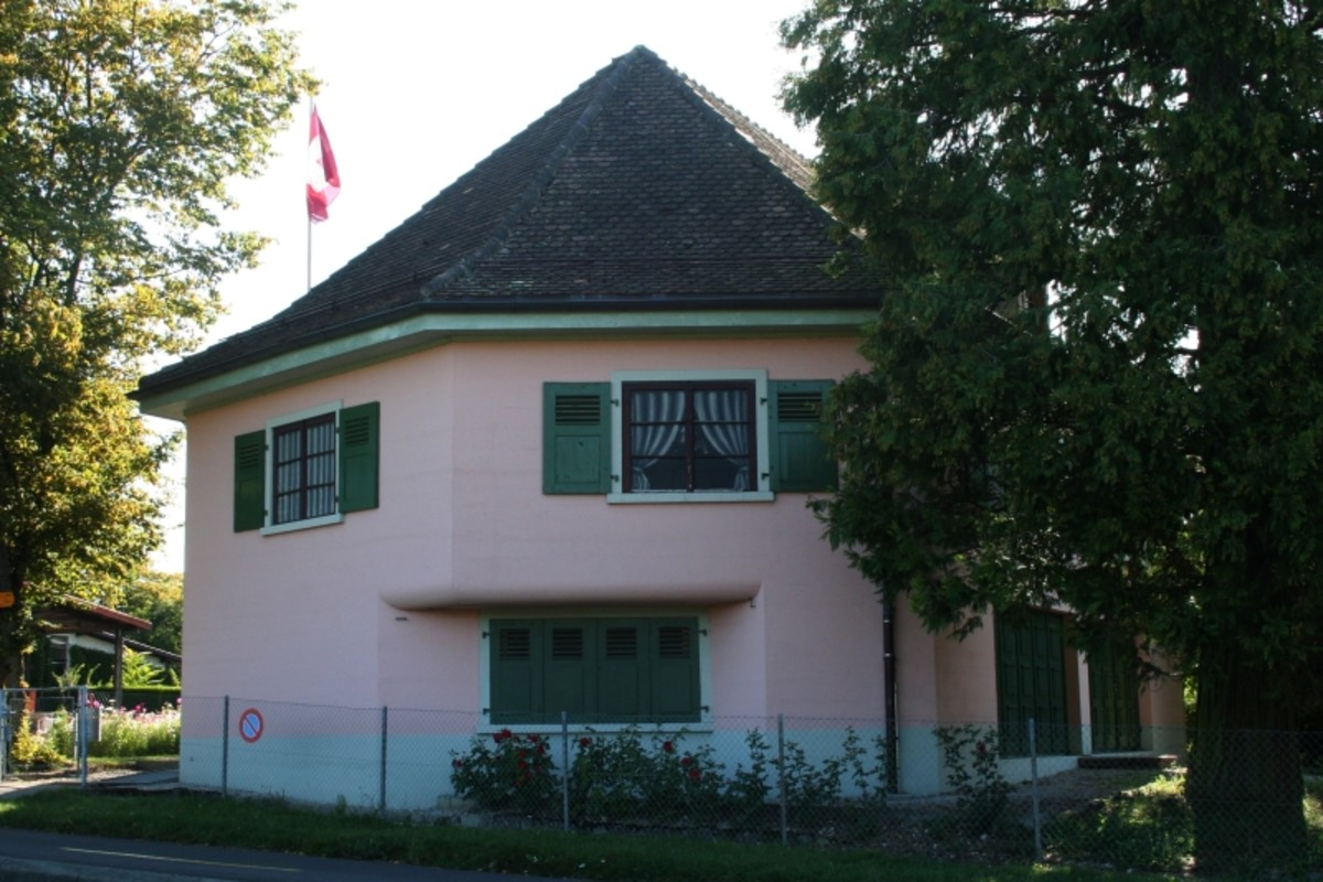 The Villa Rose, former disguised Swiss fortification. Its 8.5-foot thick walls protected hidden anti-tank cannons.