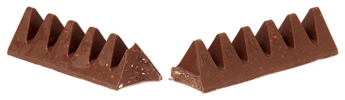 The distinctive shape of the Swiss chocolate bar Toblerone resembles Switzerland's dragonteeth anti-tank obstacles.