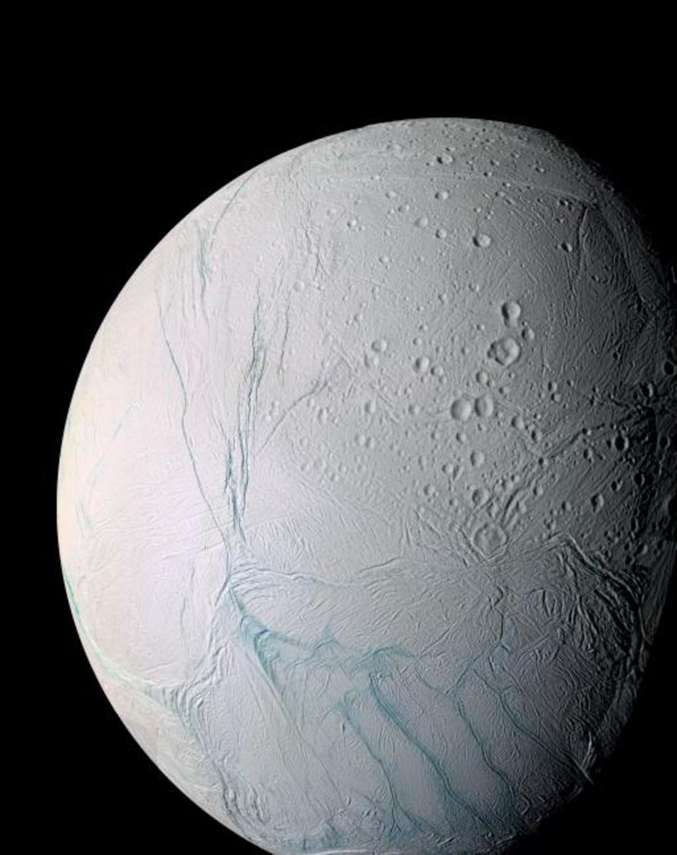 Enceladus is a gorgeous ice moon where geological processes are continually resurfacing the landscape. It's one of my favorite objects in the solar system for its sheer beauty.