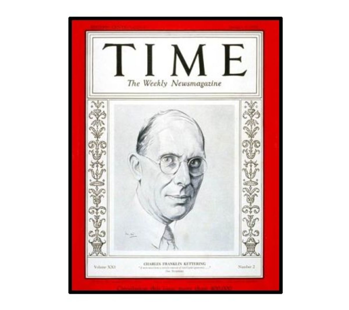 Charles Kettering (1876 - 1958), Time Magazine cover, 1933