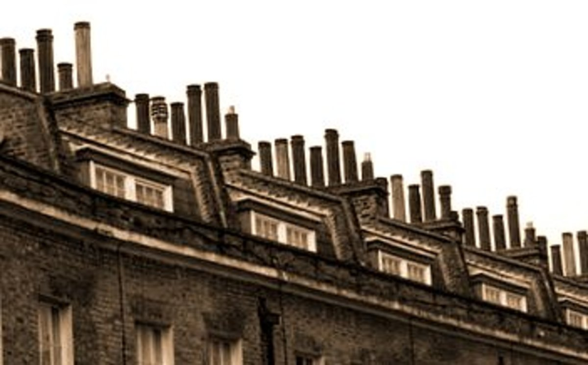 Each house could have many chimneys that looked alike.