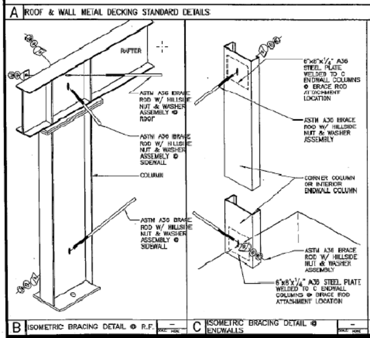 Standard wall brace details. These are from a set of plans drawn by Chris Sanders, one of the best in California.