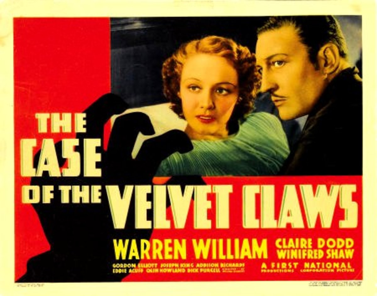 The Case of the Velvet Claws, a First National Picture starring Warren William as Perry and Claire Dodd as Della