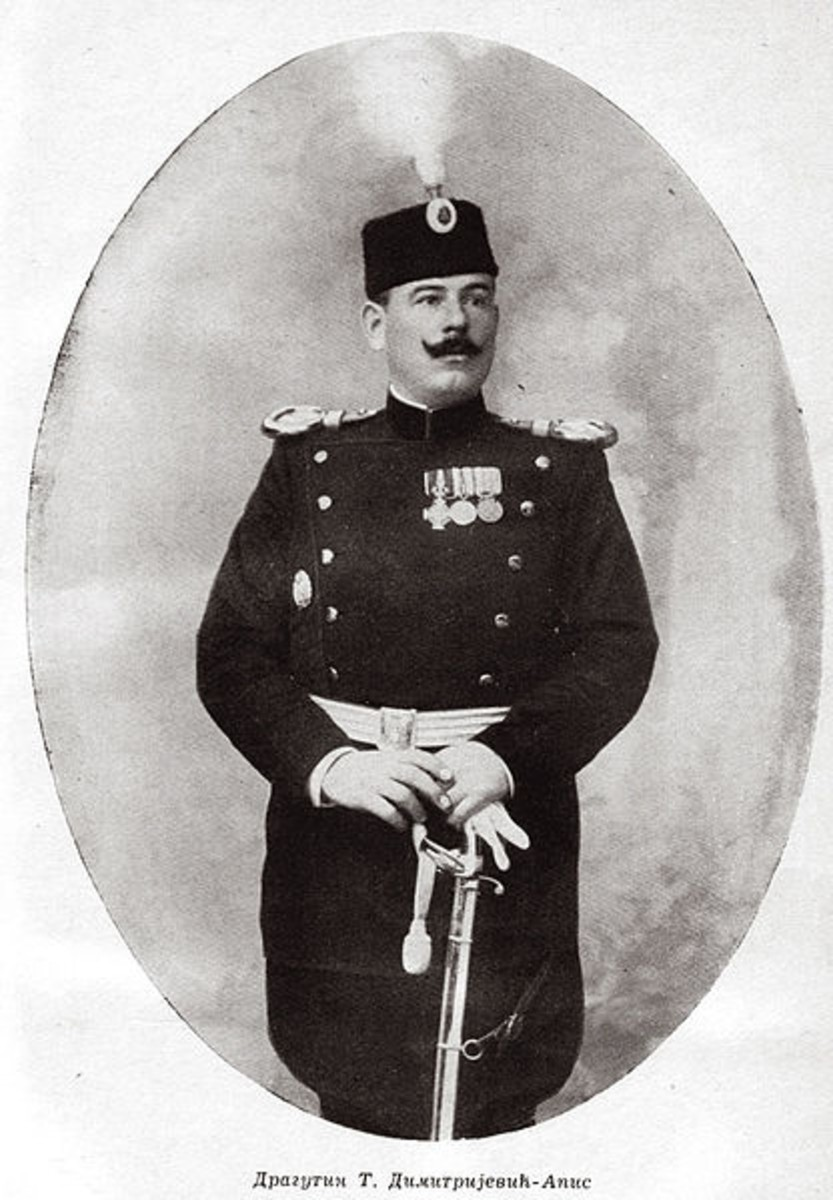 Dragutin Dimitrijevic. Black Hand leader who ordered the assassination. Circa 1900.
