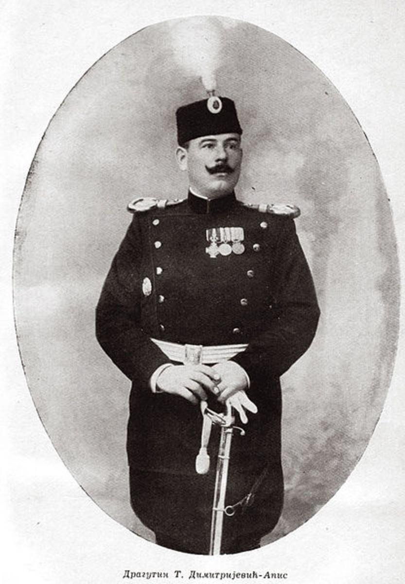 Dragutin Dimitrijevic. Black Hand leader who ordered the assassination. Circa 1900.