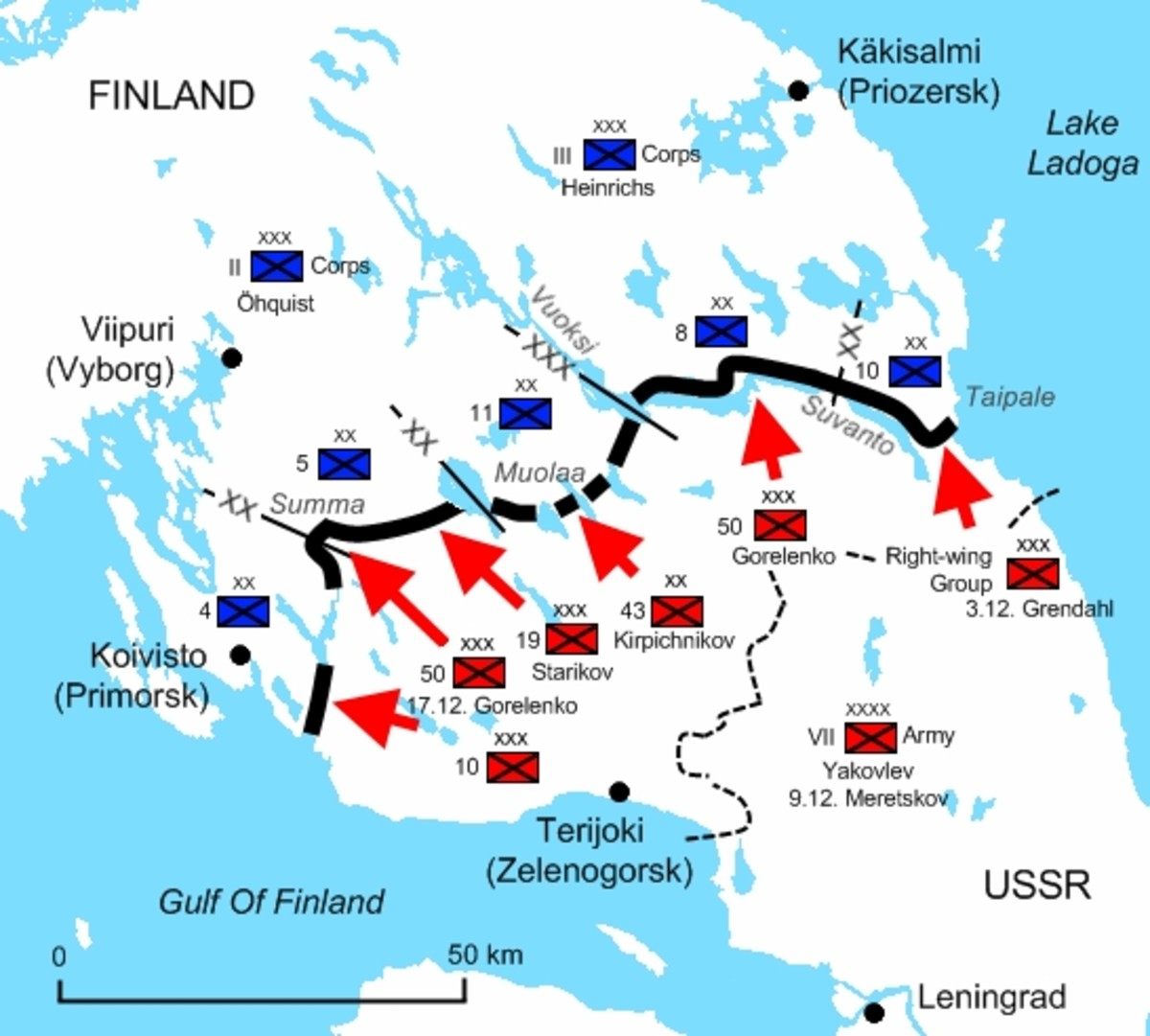 WW2: The Mannerheim Line from the Gulf of Finland to Lake Ladoga.  Built 1920-24, 1932-39; Construction materials: Wood, Boulders, Concrete, steel, natural features