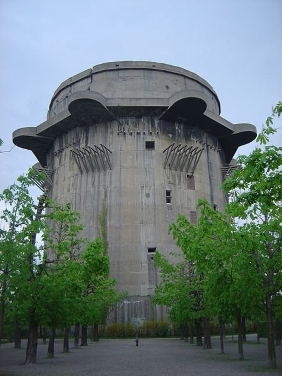 Third Generation flak tower (G-Tower) in Augarten, Vienna, Austria.