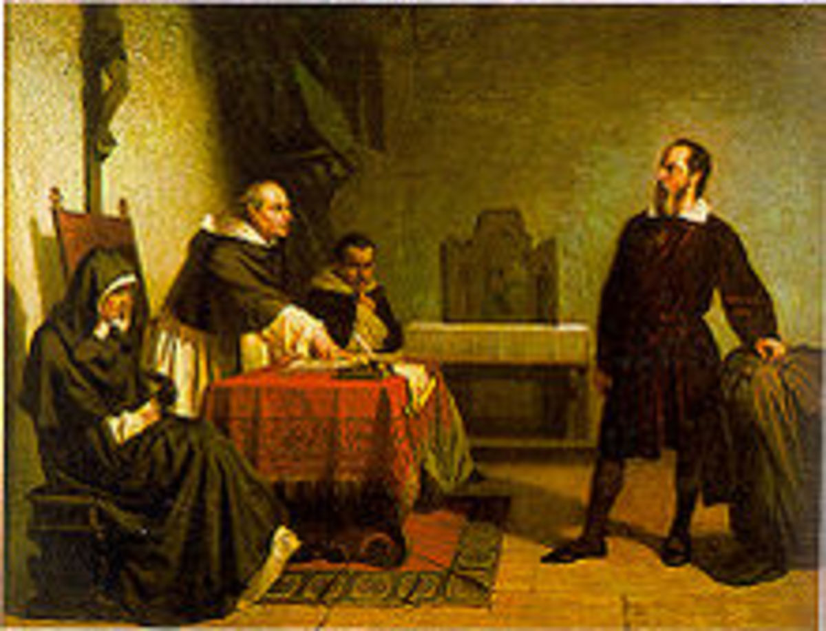 Cristiano Banti's 1857 painting of Galileo on trail