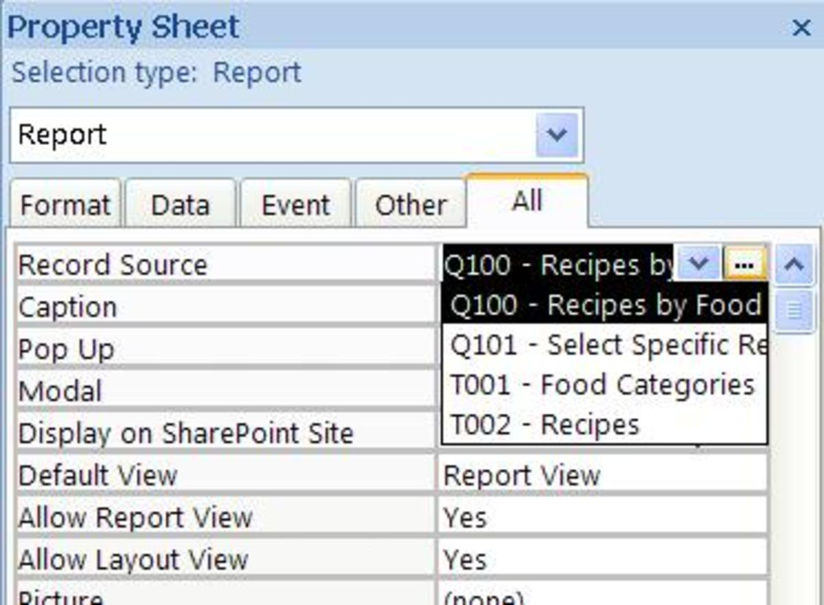 Property Sheet Screenshot