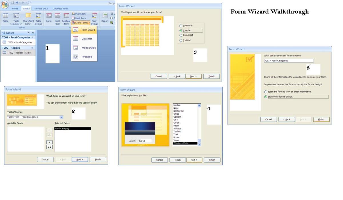 Form Wizard Screenshots