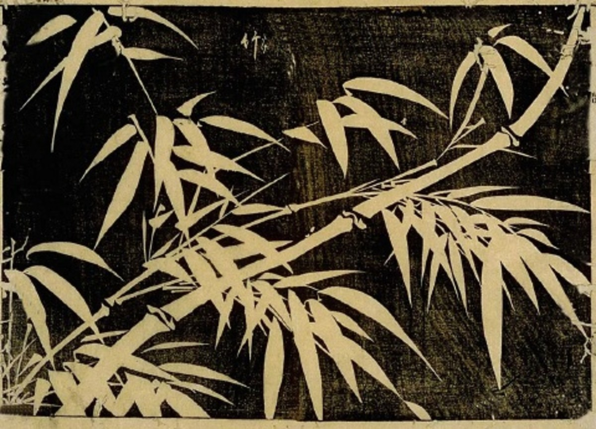 """Take"" ('bamboo' in Japanese) by 18th century Japanese artist Kikuya Kihei."