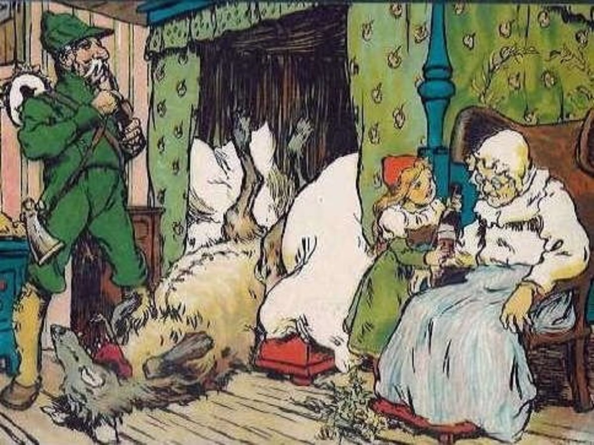 Image result for little red riding hood illustration