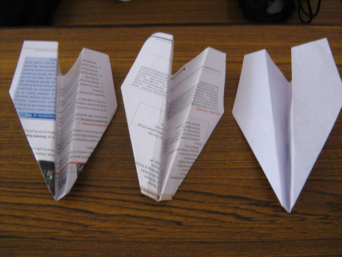 Paper planes can be used to describe evolution