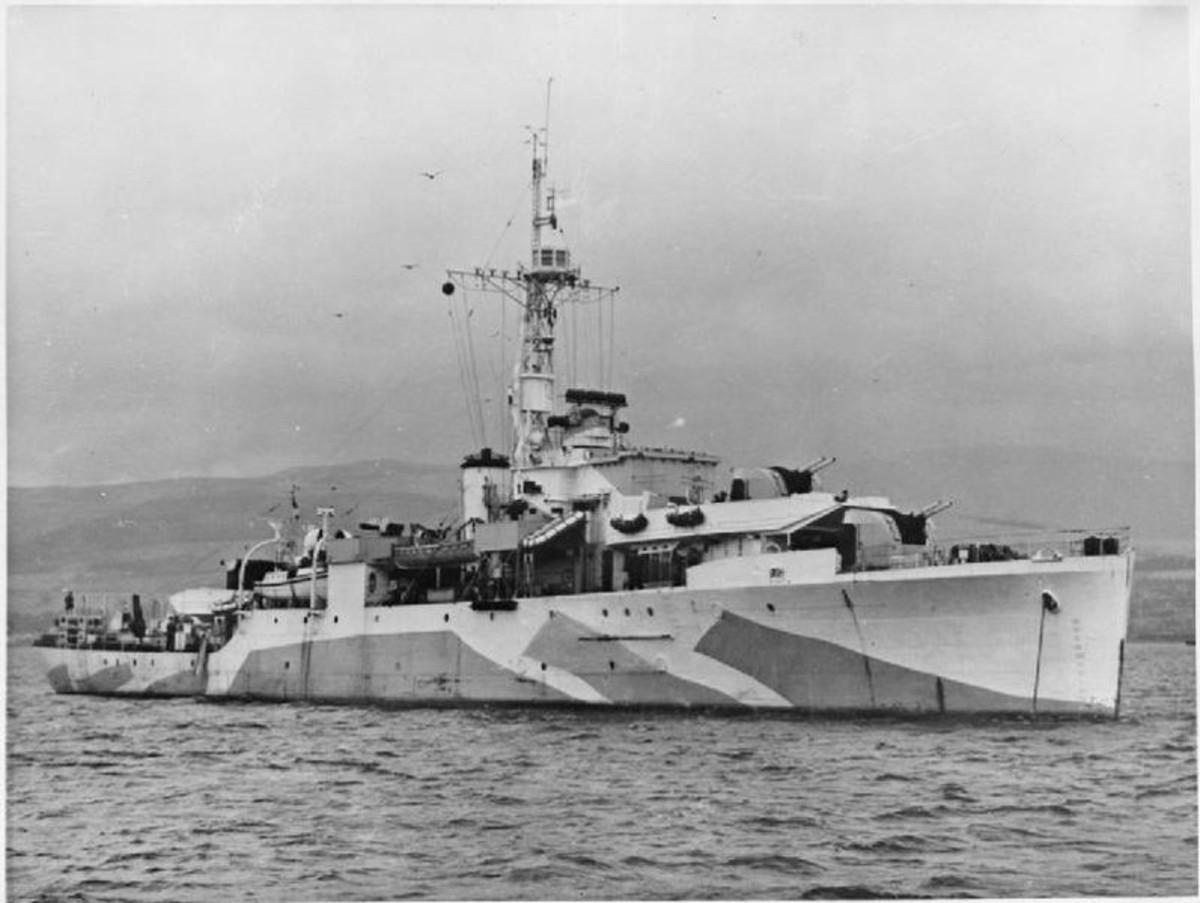 British sloop HMS Amethyst during World War II.