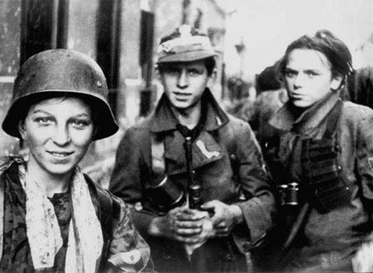"""WWII: Warsaw Uprising: Very young soldiers from the """"Radoslaw Regiment"""". September 2, 1944."""