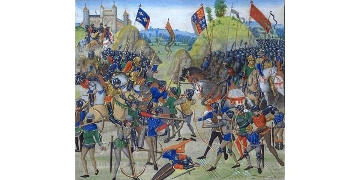 Battle of Crecy, 15th-century illuminated manuscript of Jean Froissart's Chronicles