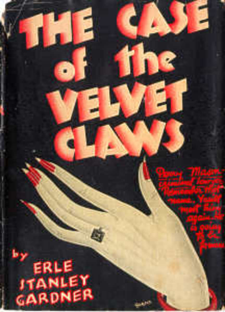First Edition Dust Jacket of ' The Case of the Velvet Claws' , published by William Morrow in 1933