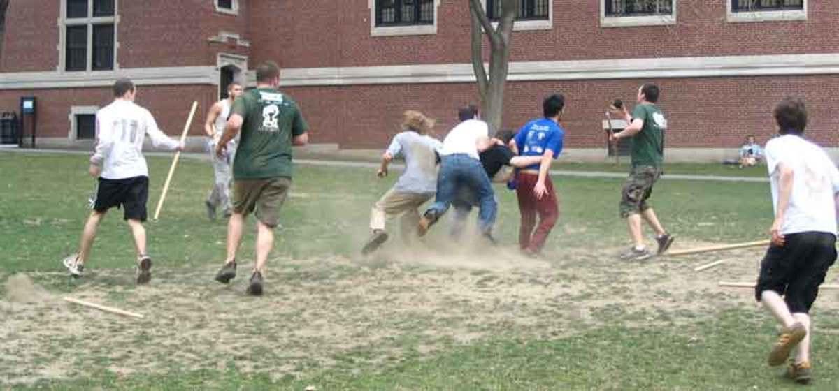 A contemporary game of knattleikr played at Clark University.