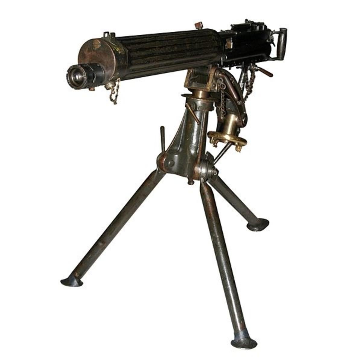 World War Two (WWII) Vickers machine-gun.