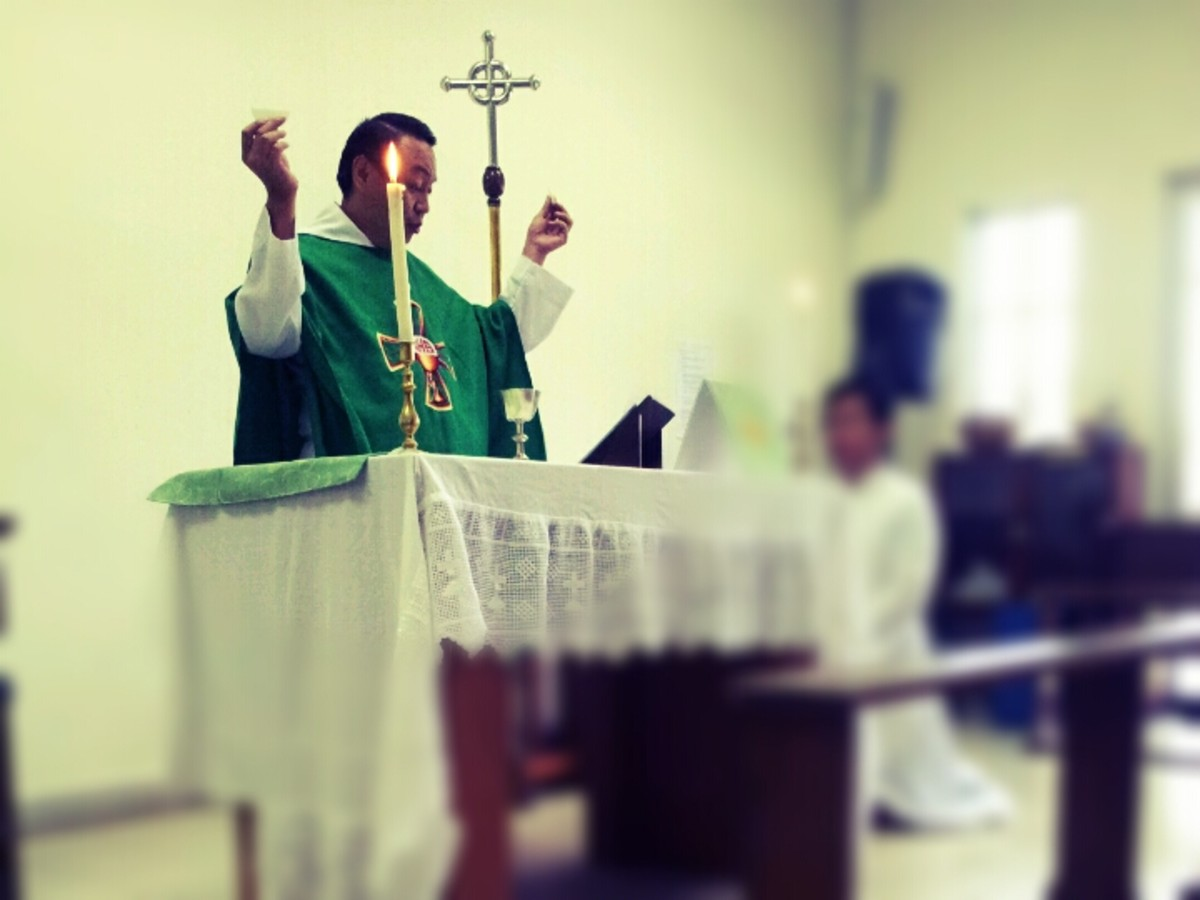 The Celebration of the Holy Eucharist is central in the Mass.
