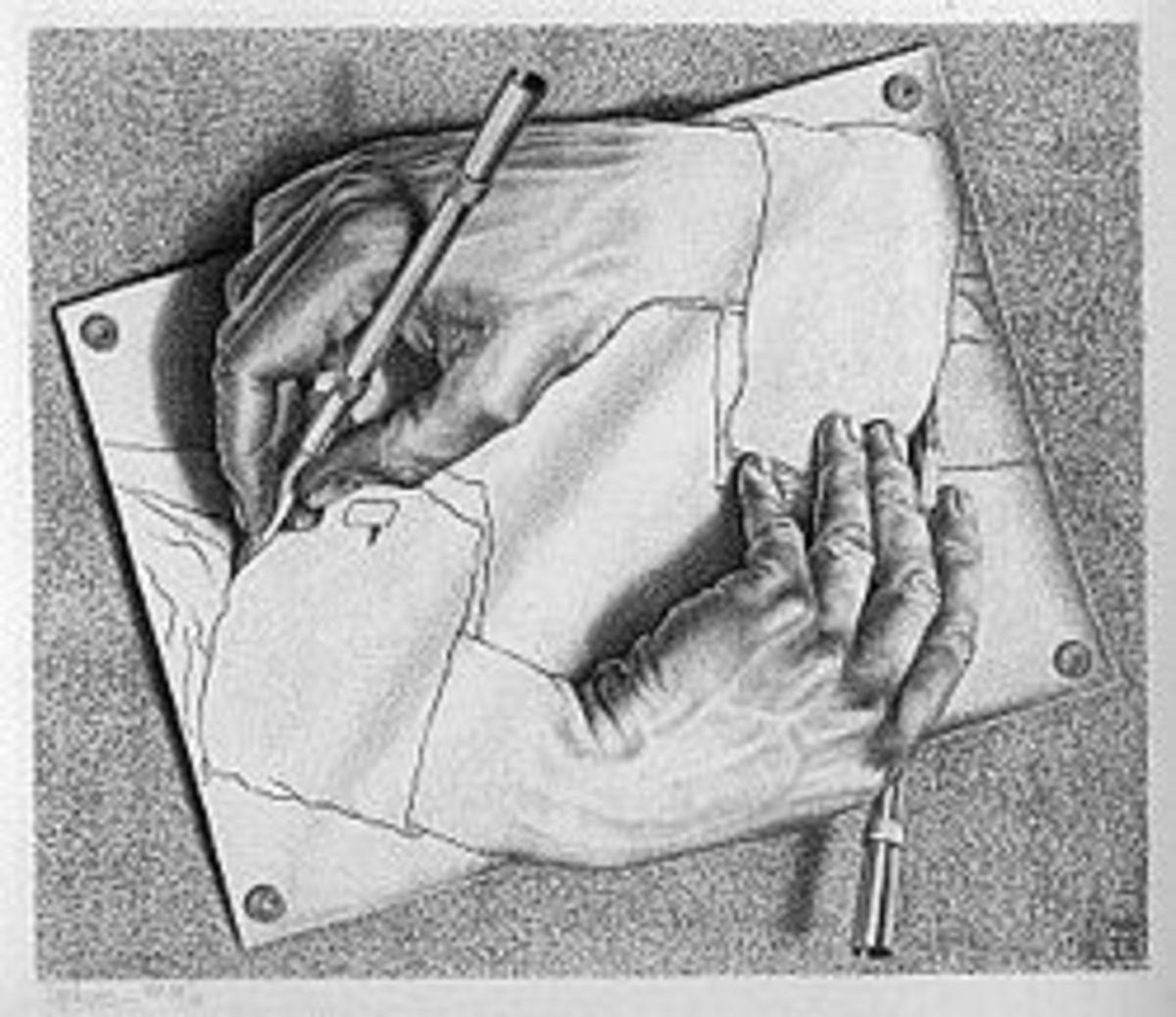 Drawing Hands by M.C. Escher