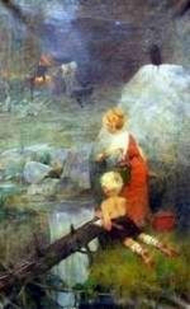 Painting by Karl Hartmann: Jenicek a Marenka