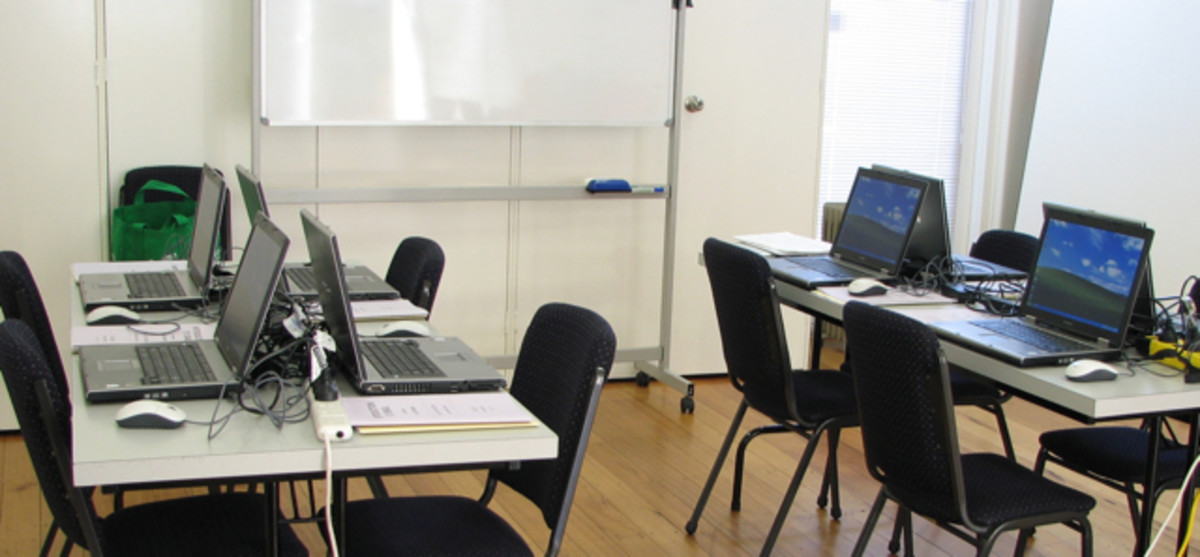 My small classroom for elderly computer students attending the University of the Third Age in Warragul, Australia.