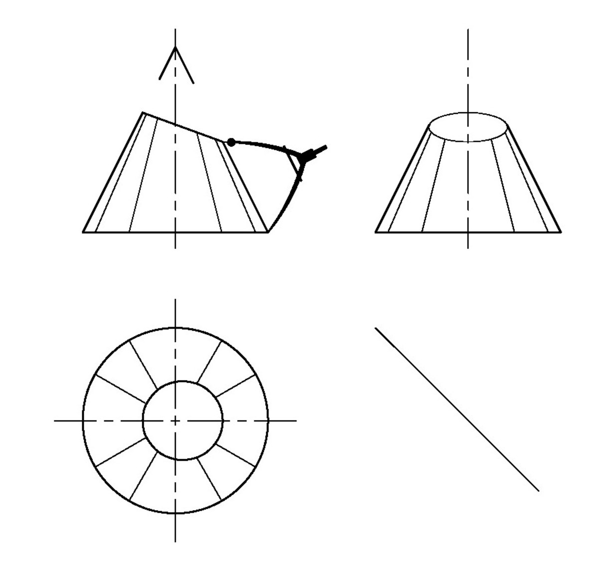 how to develop a truncated cone