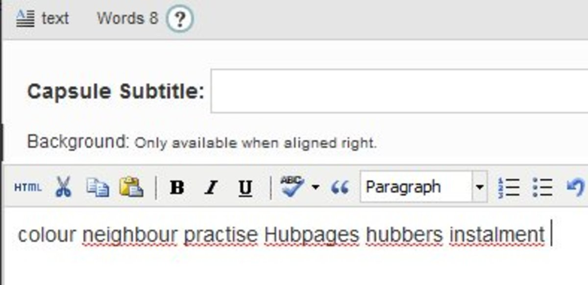 Unrecognised words - Even 'HubPages' gets flagged