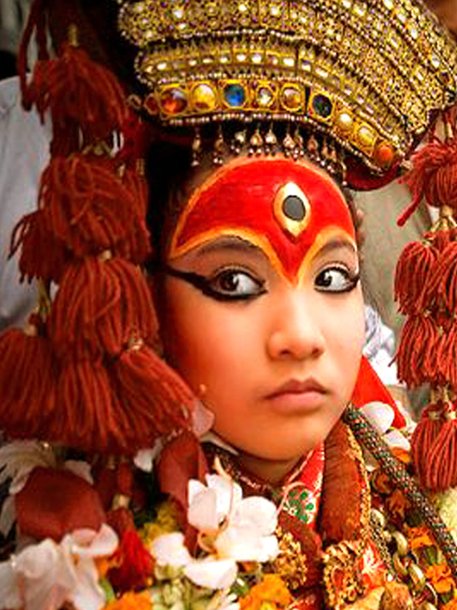 The Vestal Virgin: Goddess Kumari is invoked in this young Nepali girl