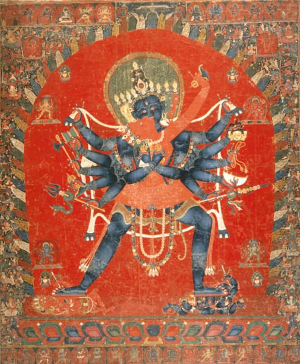 Chakrasamvara- Vajravarahi, the divine couple in Vajrayana Buddhism is related to fertility.