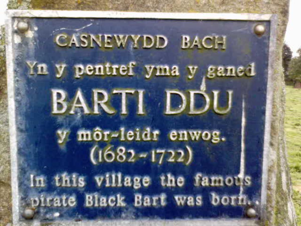 Bart Roberts' memorial stone.