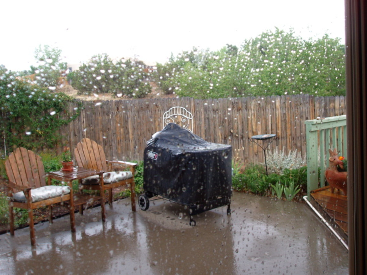Rain in Santa Fe, New Mexico - a normally dry part of the country.