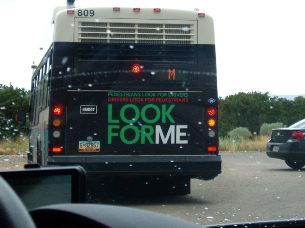 Bus on a rainy day in Albuquerque. Look for evidence of P. syringae and start pointing it out to people. We need this awareness to spread.