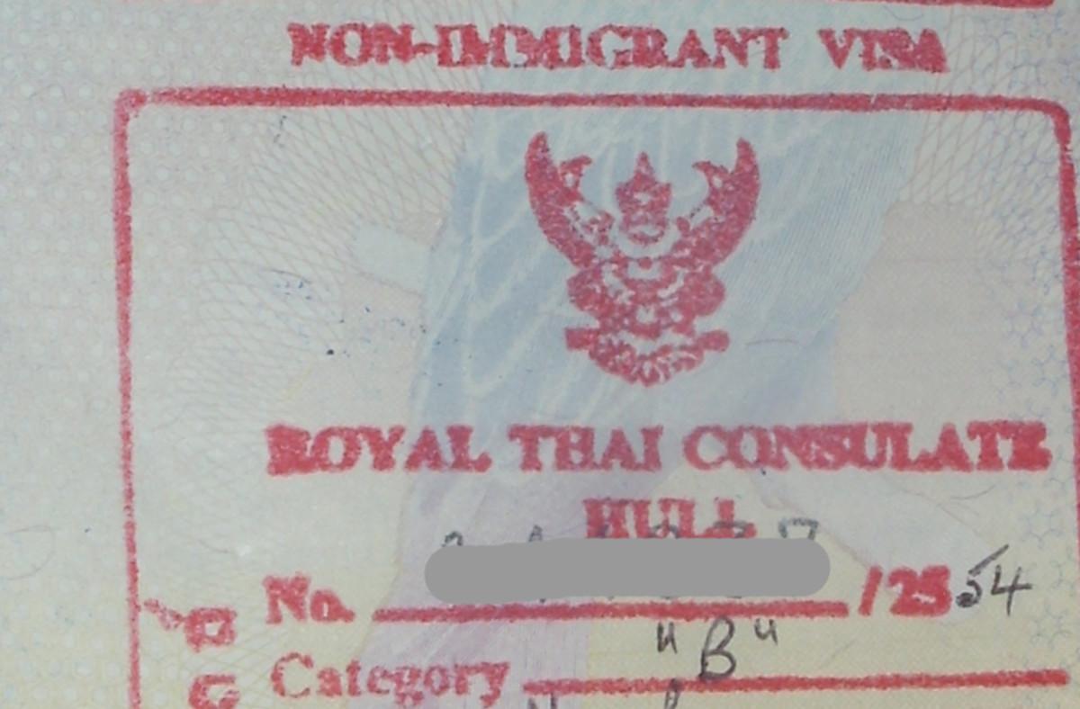 Thai non-Immigrant (B) visa