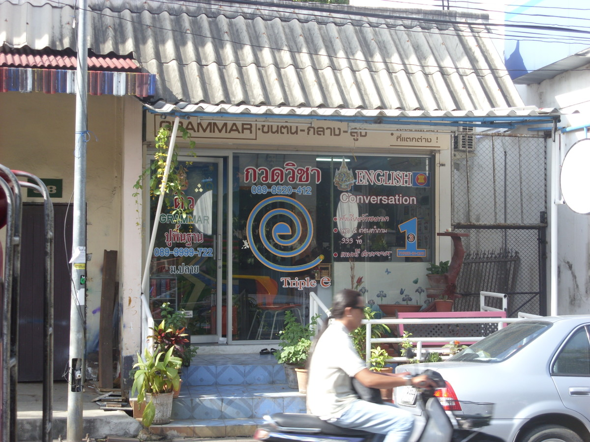 A small language school in Chiang Mai, north Thailand