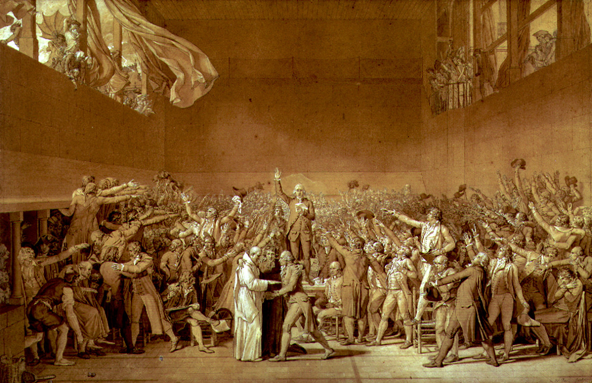 """The Tennis Court Oath"" by Jacques-Louis David"