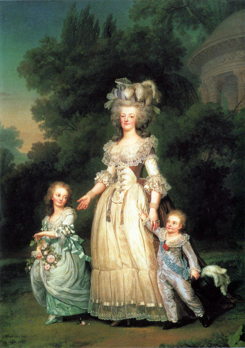 Queen Marie Antoinette with two of her three children in 1785